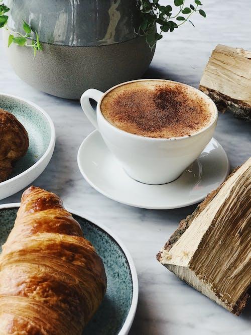 一杯咖啡, 卡布奇諾, 原本, 可口 的 免費圖庫相片