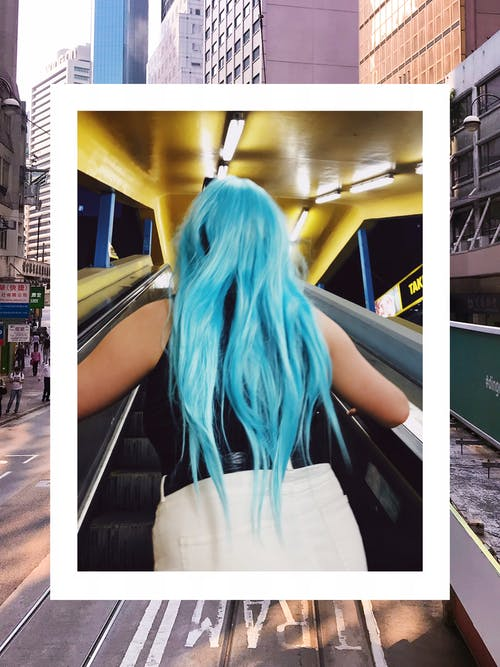 Gratis arkivbilde med blått hår, bruke, dame, farger