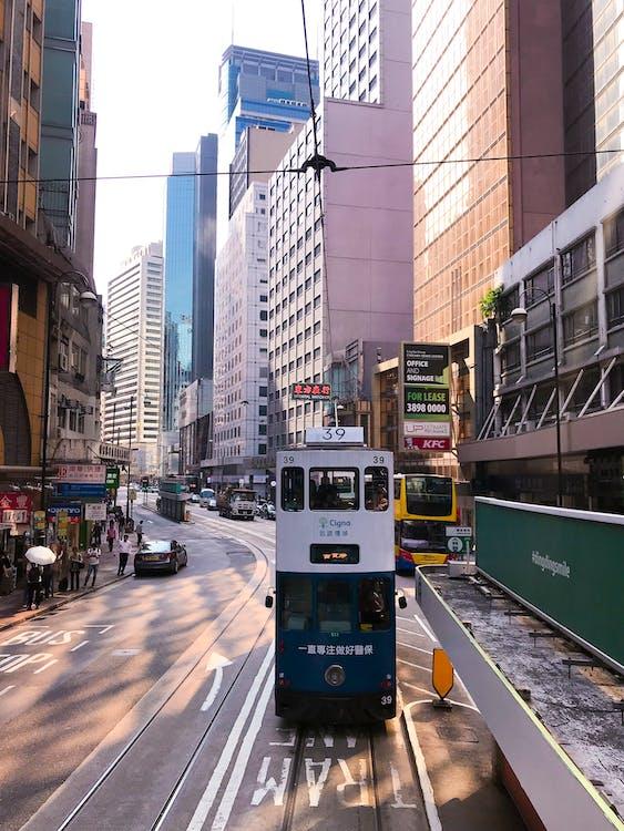 belváros, busz, építészet
