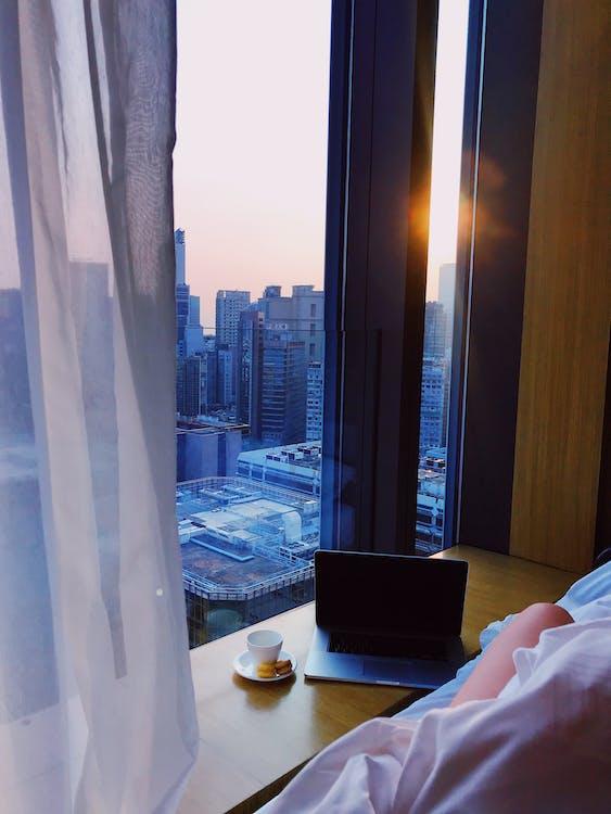 laptop, αρχιτεκτονική, αυγή