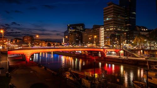 Ilmainen kuvapankkikuva tunnisteilla appelsiini, joki, silta, vesi