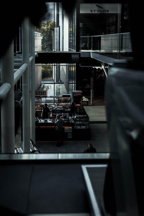Základová fotografie zdarma na téma architektura, cestování, fotka zvysokého úhlu, kavárna