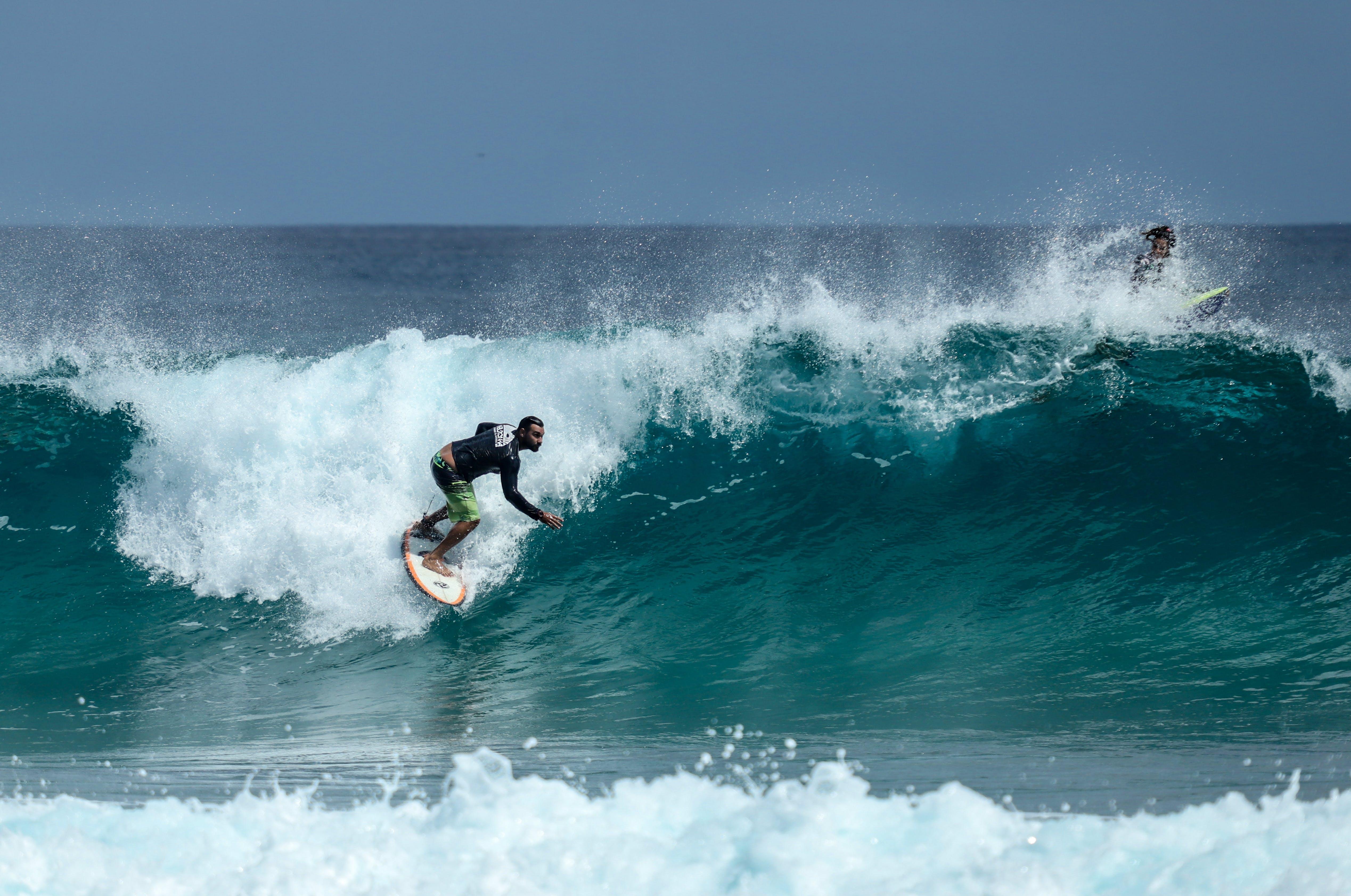 Gratis lagerfoto af adrenalin, badehuse, bevægelse, bølge