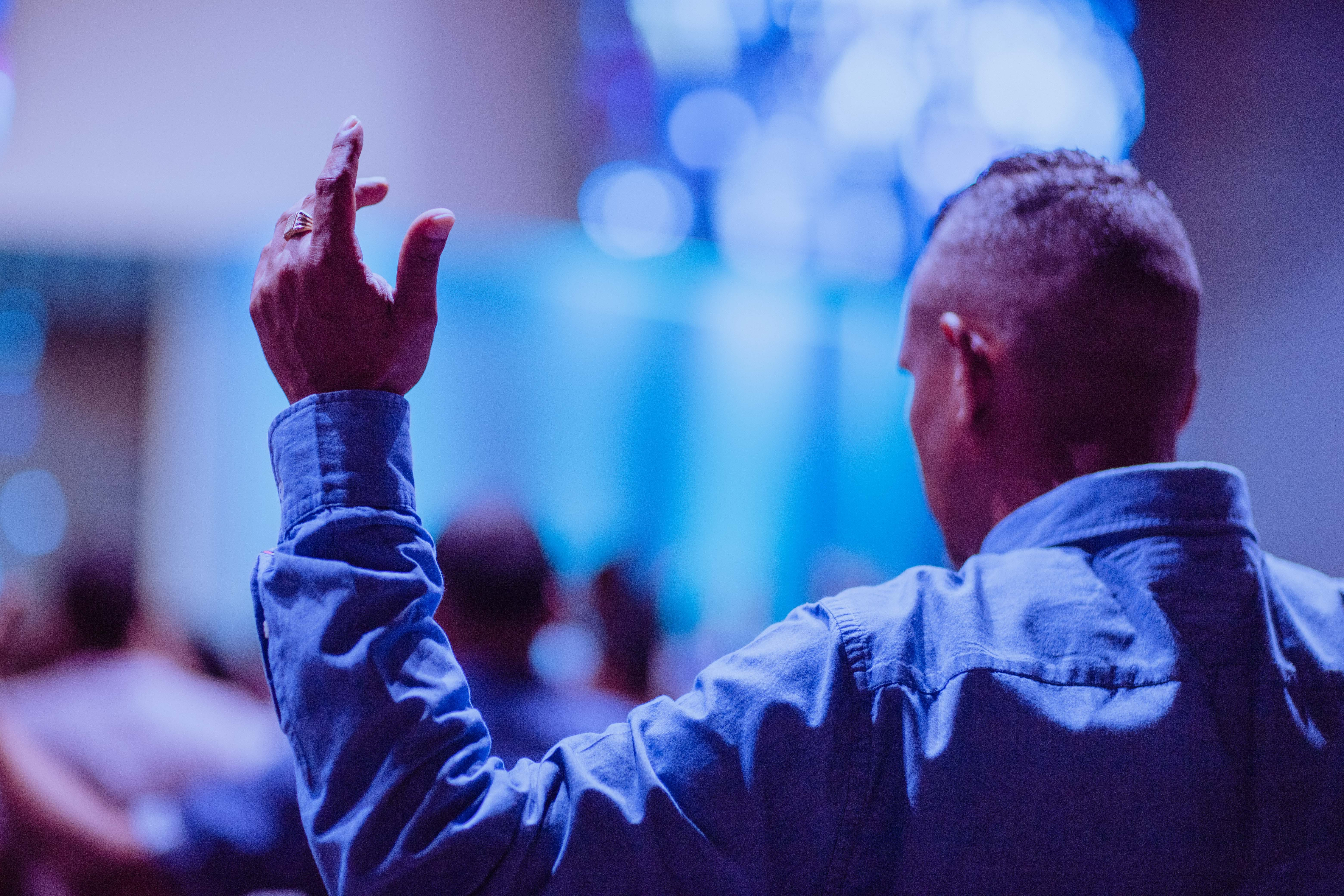 イエス, センター, 伝道の, 手の無料の写真素材