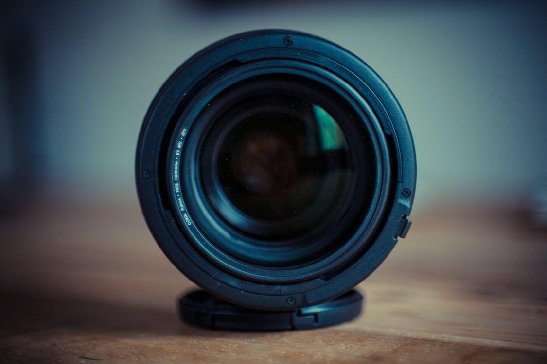 camera-apparatuur, cameralens, close-up