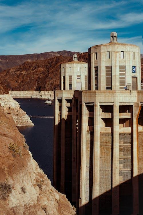 açık, açık hava, baraj, bina içeren Ücretsiz stok fotoğraf