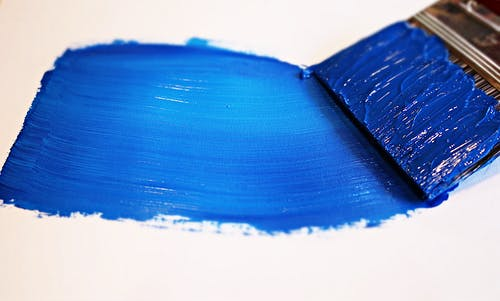 Blue Paint on White Surface