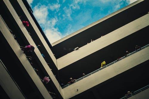 Kostenloses Stock Foto zu blauer himmel, gebäude, universität