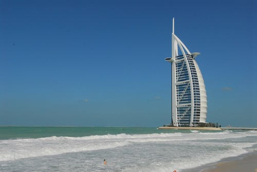 Burj Al Arab, Dubai Under Blue Sky