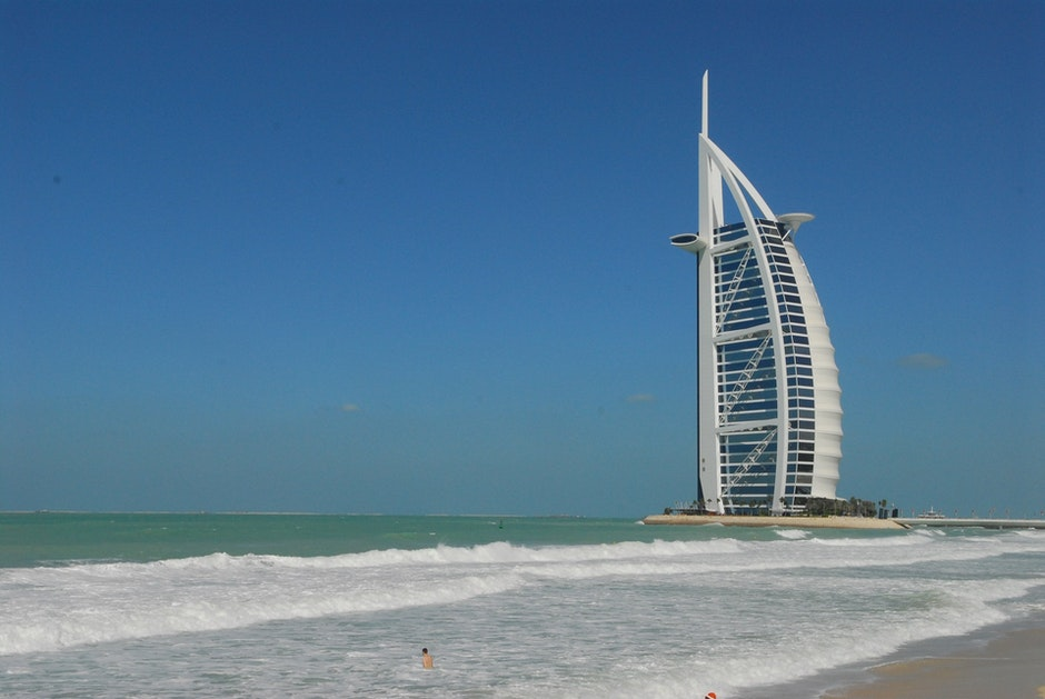beach, burj al arab, dubai