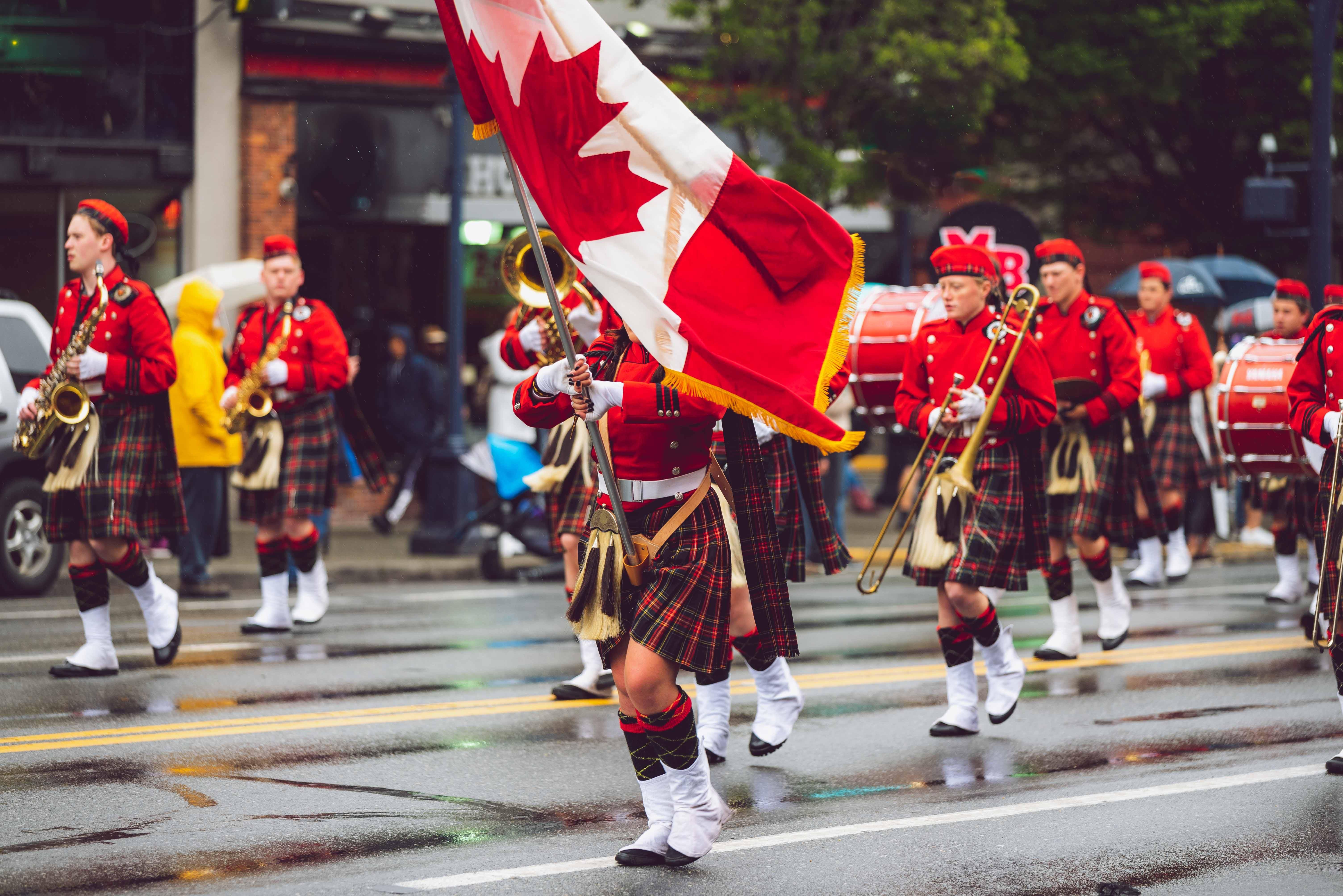 Foto stok gratis bendera kanada, berkelompok, festival, gerimis