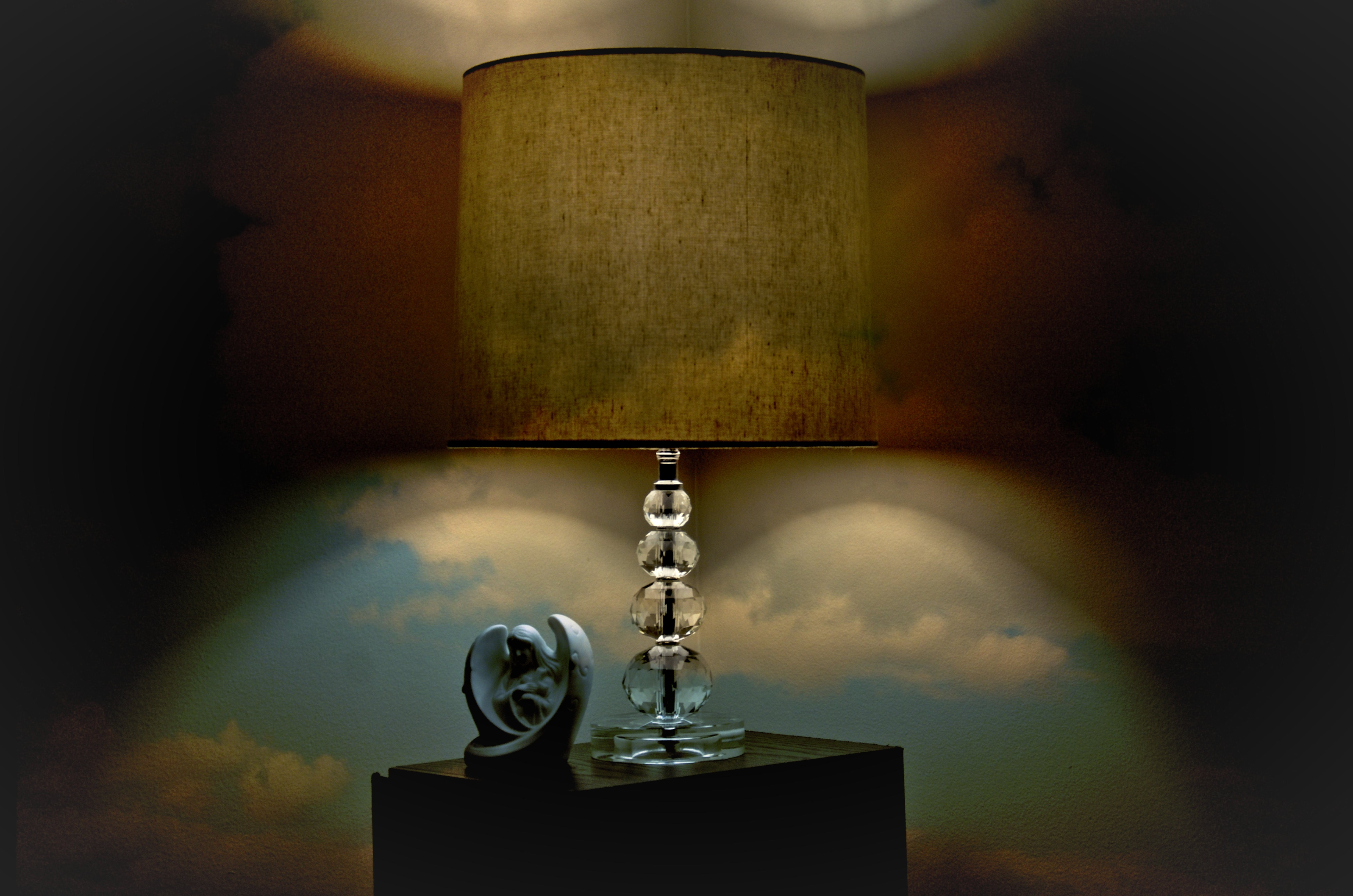 Clear and Brown Table Lamp