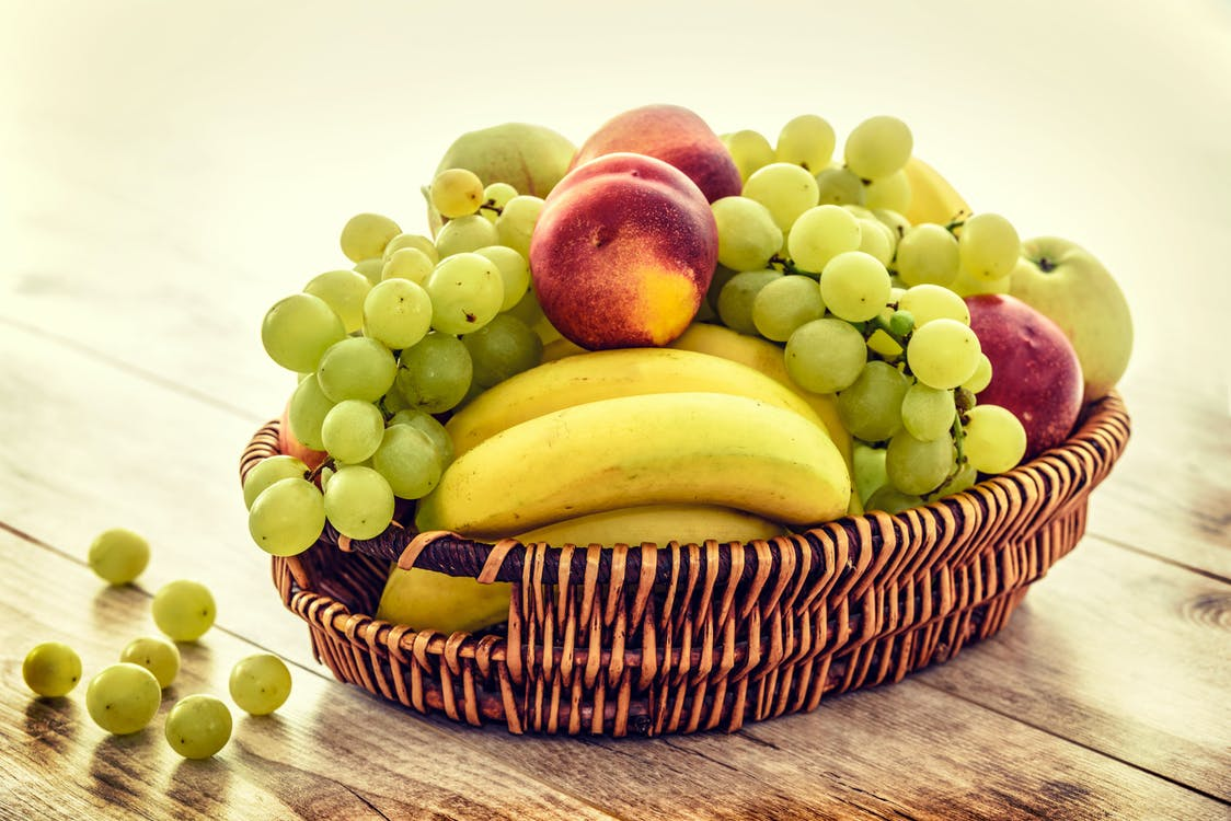 Several Fruits in Brown Wicker Basket