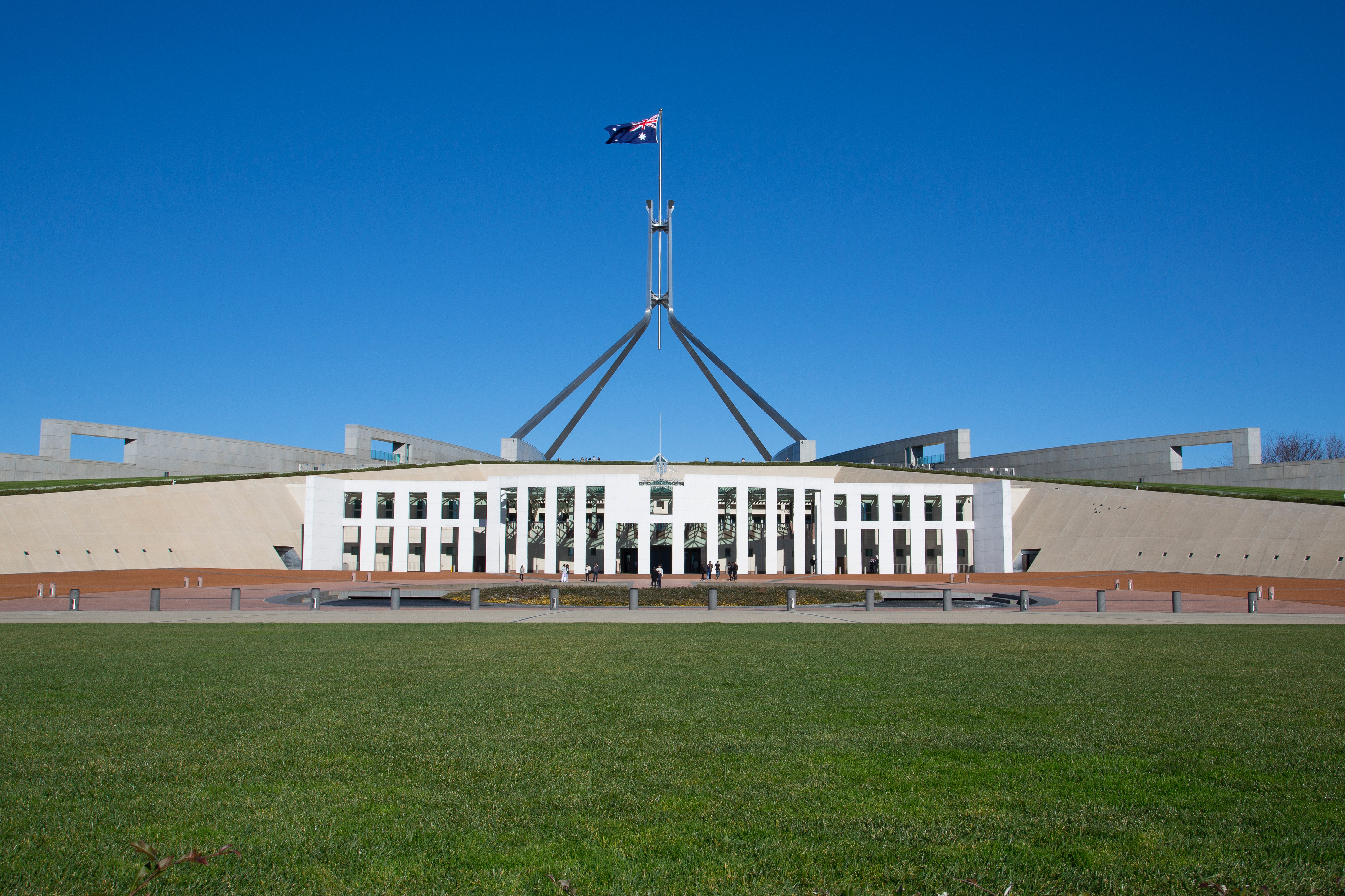 Free stock photo of Parliament House Canberra Australia