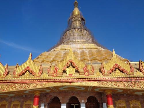 Ảnh lưu trữ miễn phí về chi tiết kiến trúc, chùa, chùa dhammakaya, m đốt