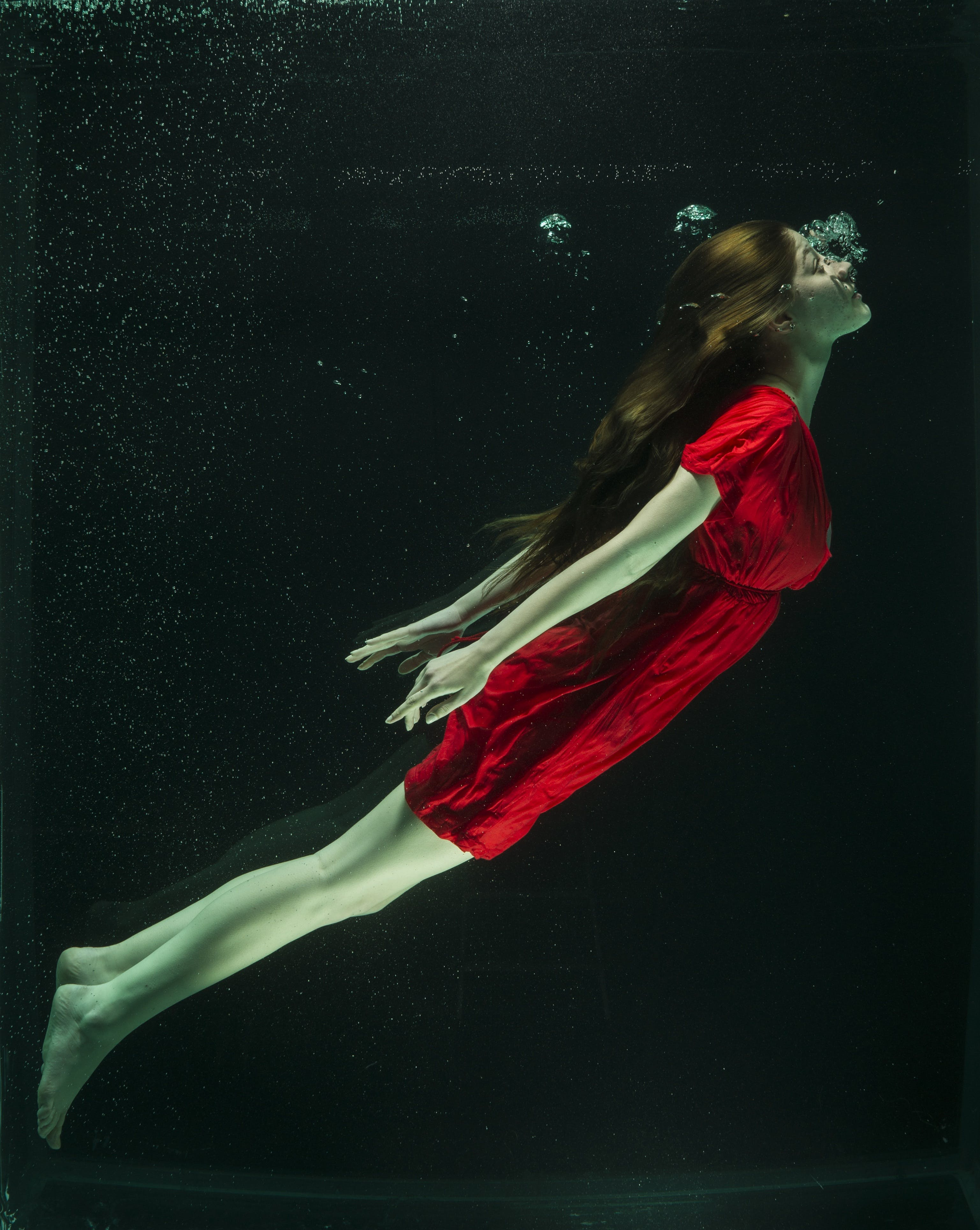 Woman Submerge in Water