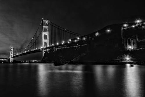 Kostnadsfri bild av arkitektur, bro, flod, hängbro