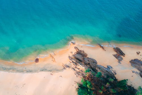 Bird's Eye View Photography of Beach Line