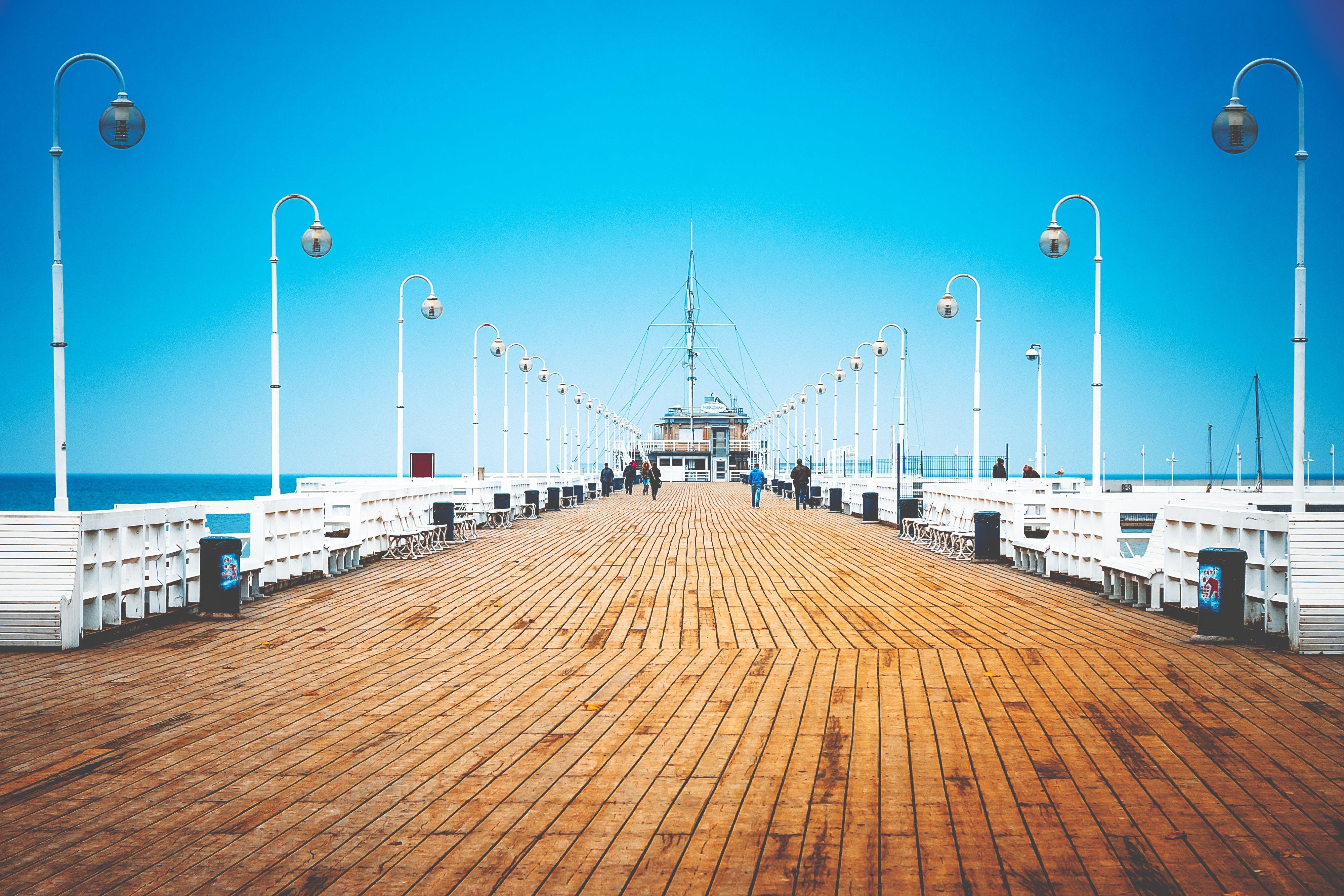 architecture, boardwalk, coast