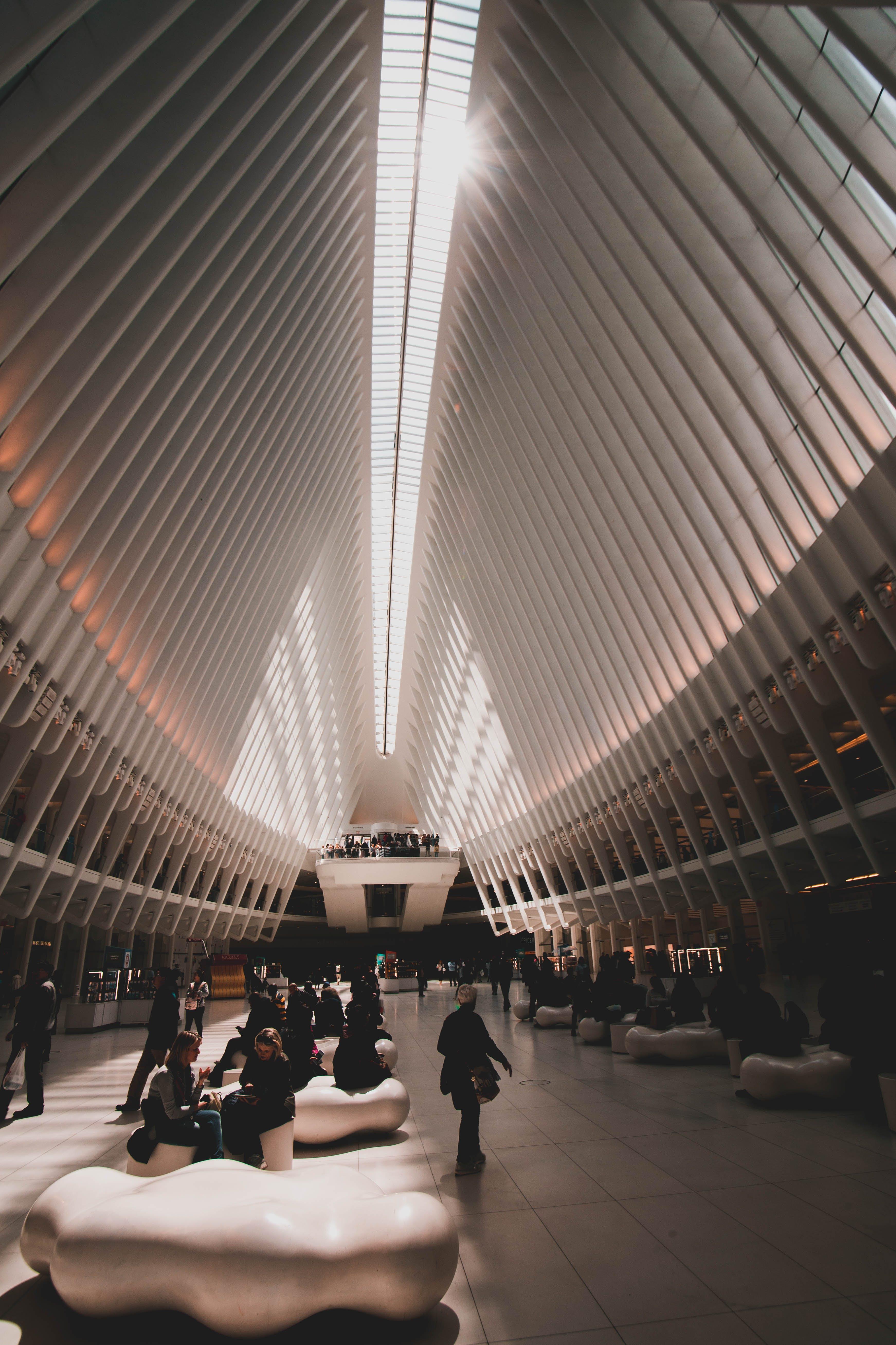 가벼운, 건축, 공항, 교통체계의 무료 스톡 사진