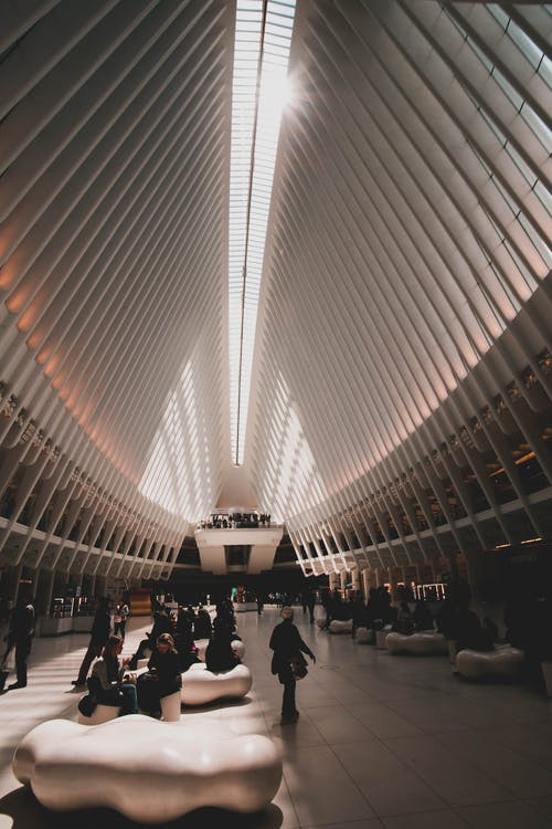Foto stok gratis Arsitektur, bangunan, kontemporer, langit-langit