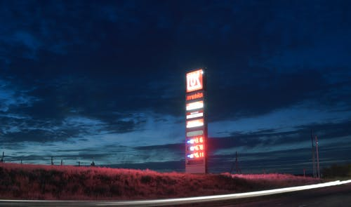 Бесплатное стоковое фото с автозаправка, вечер, красный, небо