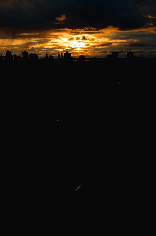 silhouttes of buildings