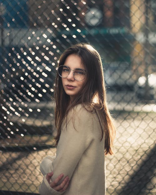 Free stock photo of cute, eyeglasses, girl, hair