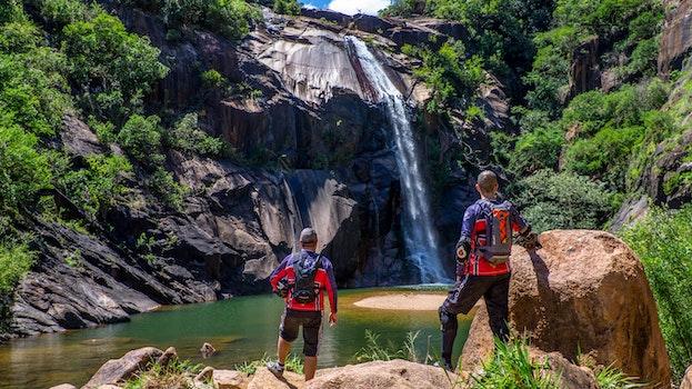 Free stock photo of landscape, people, water, rocks