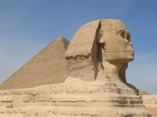 Great Sphinx and Pyramid of Giza, Egypt