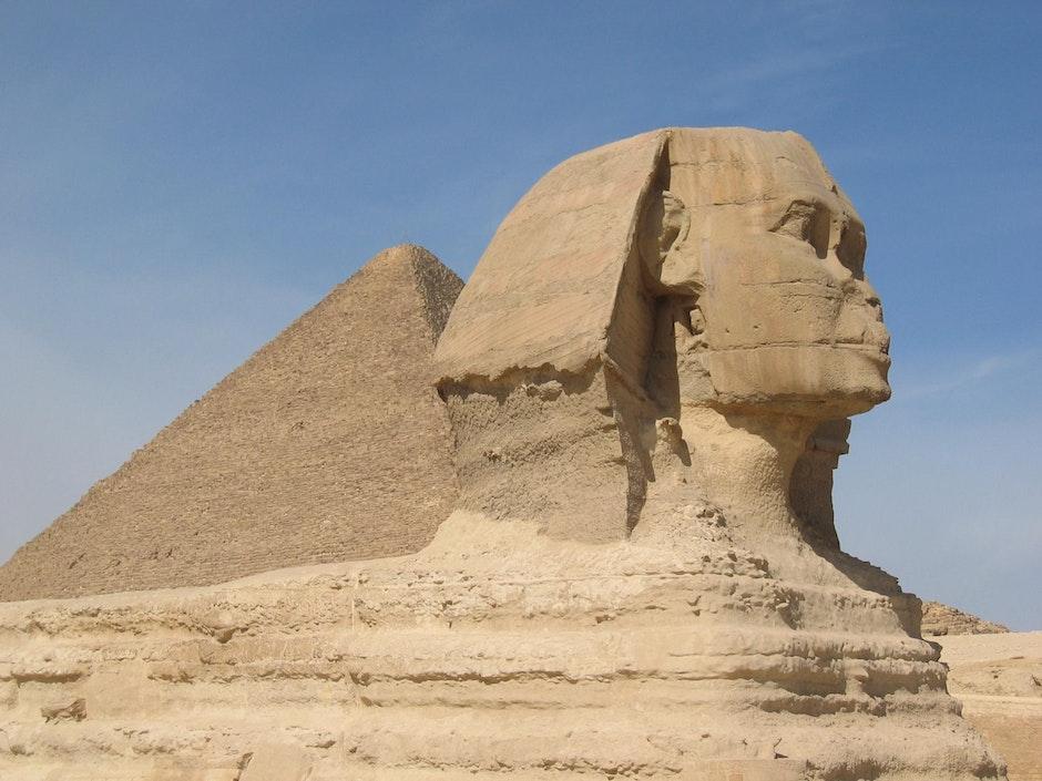desert, egypt, great sphinx of giza