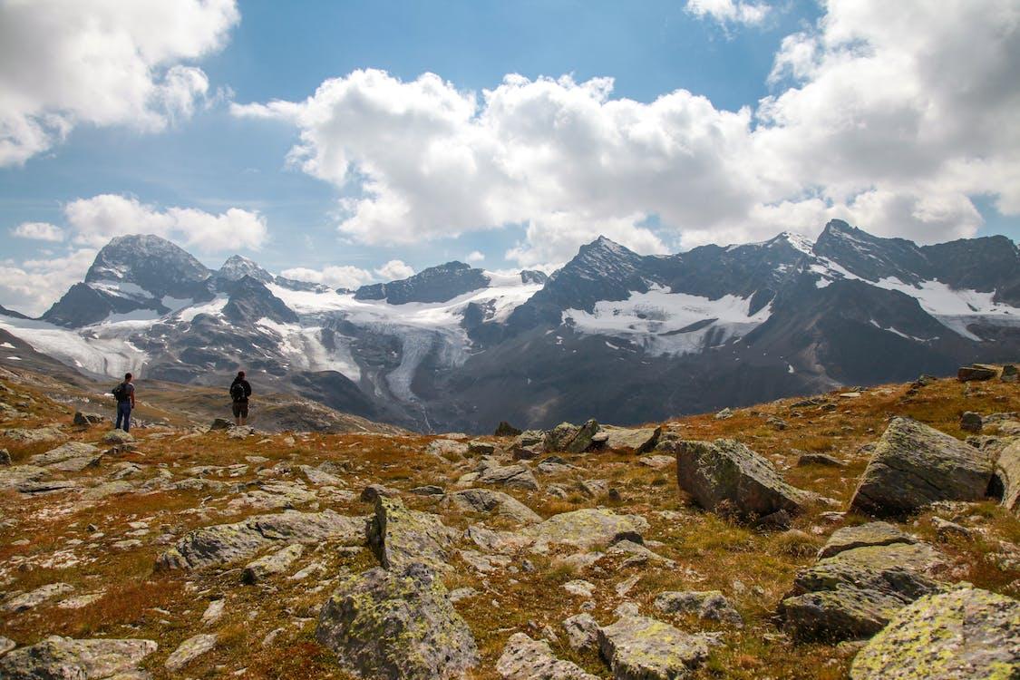aventură, în aer liber, munte
