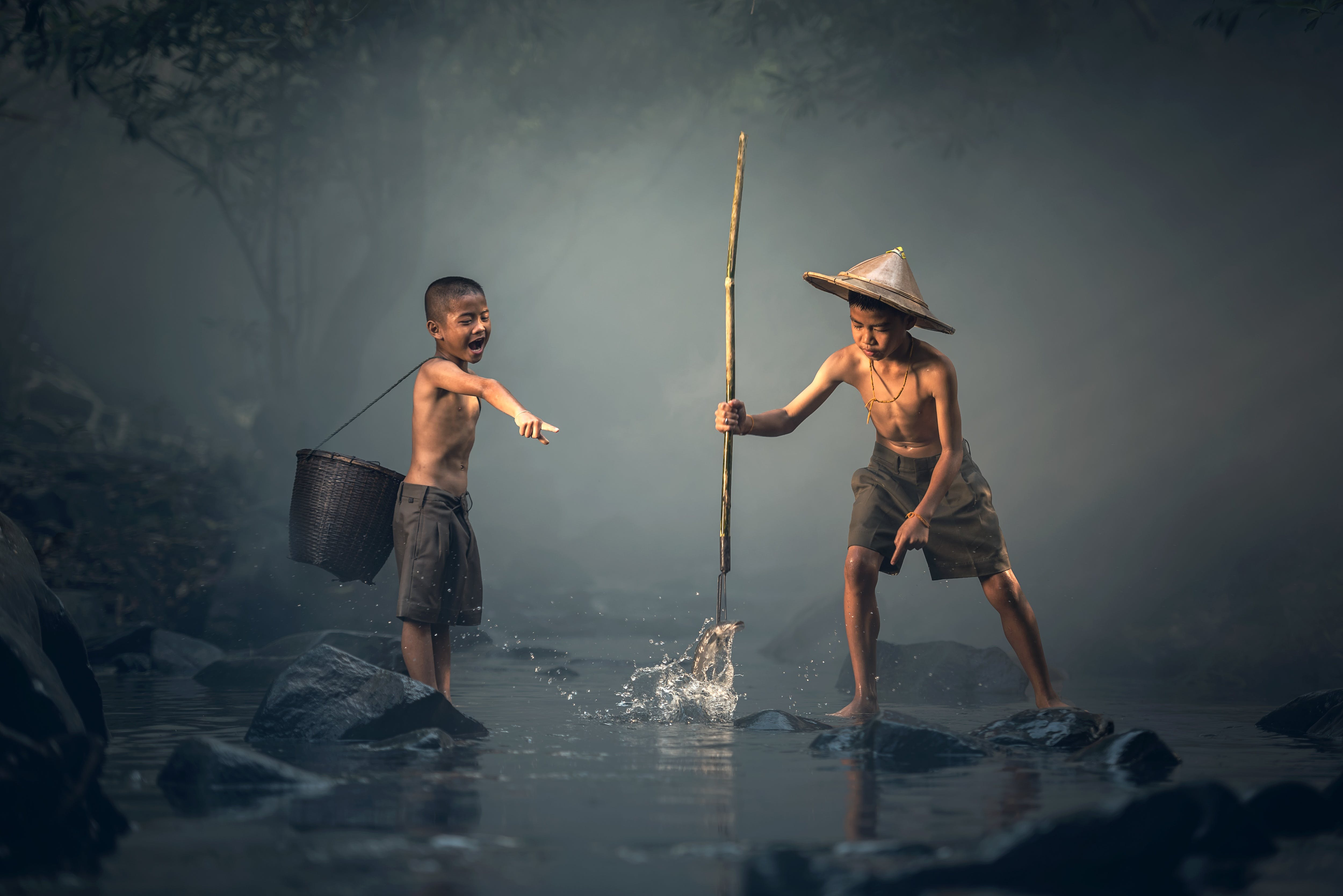 Free stock photo of fishing, man, people, water