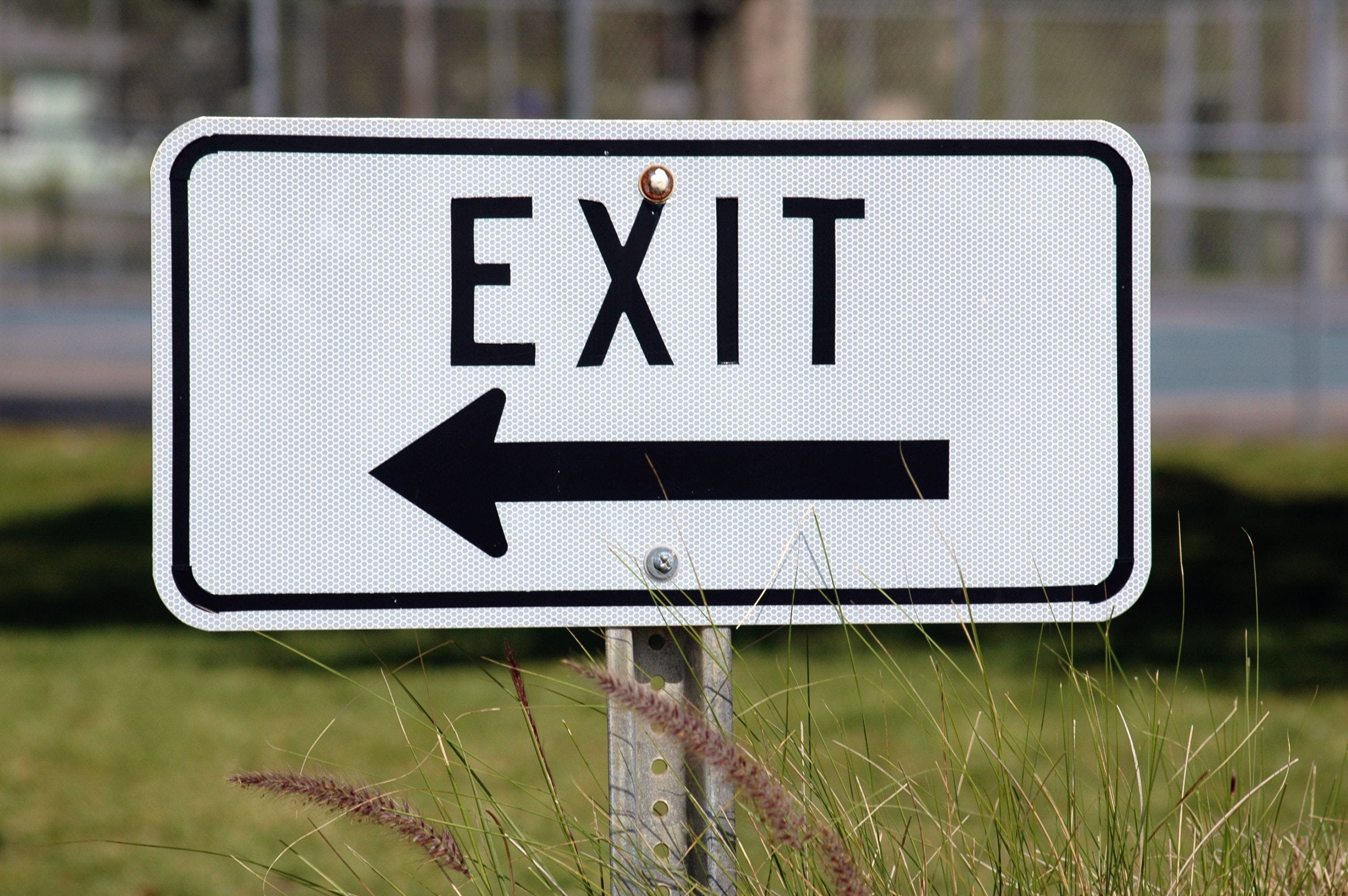 Free stock photo of road, street, exit, sign