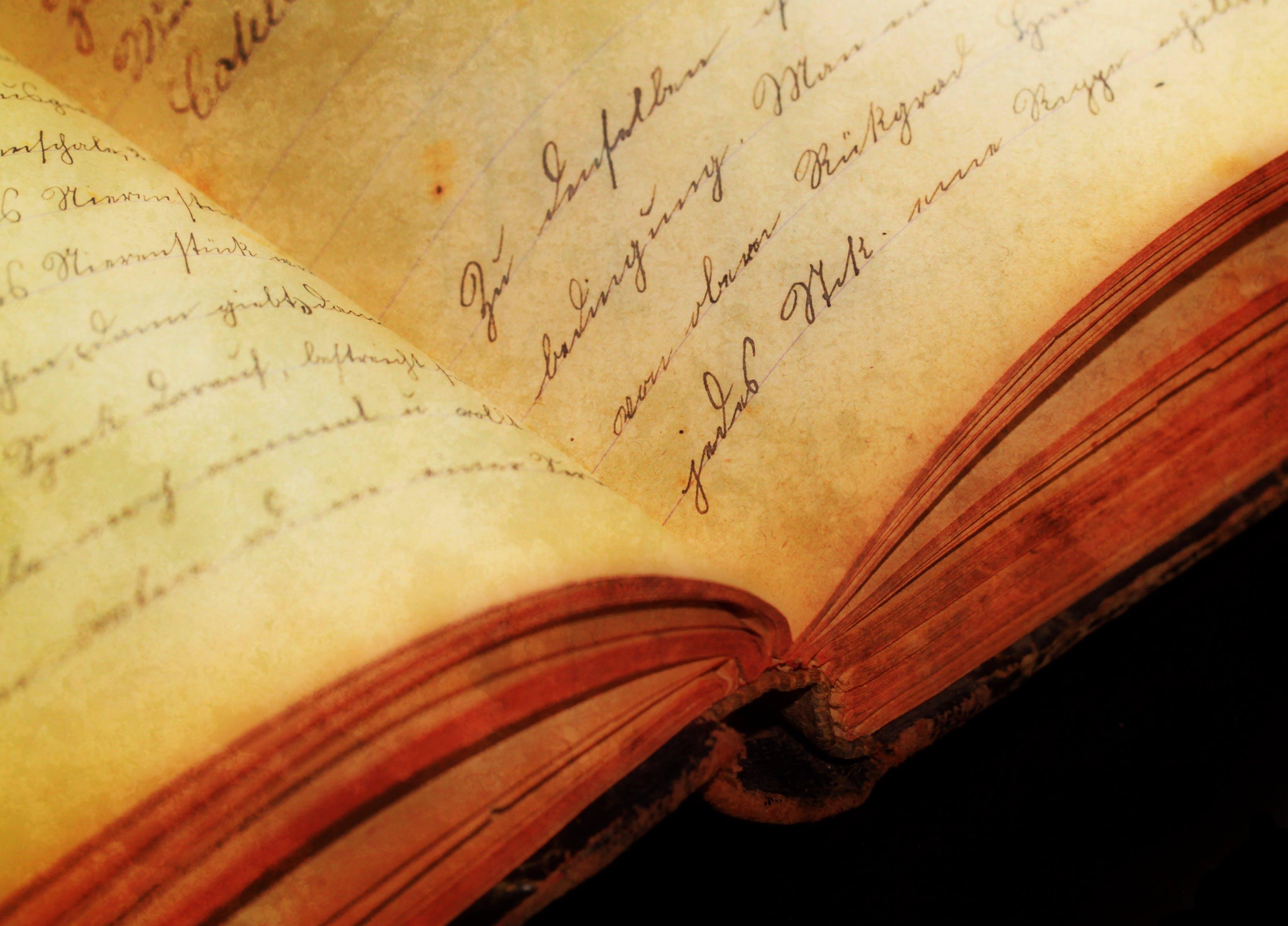 Foto d'estoc gratuïta de antic, cal·ligrafia, coneixement, escrivint