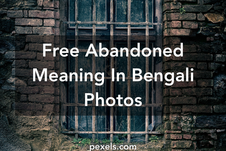 500+ Amazing Abandoned Meaning In Bengali Photos · Pexels