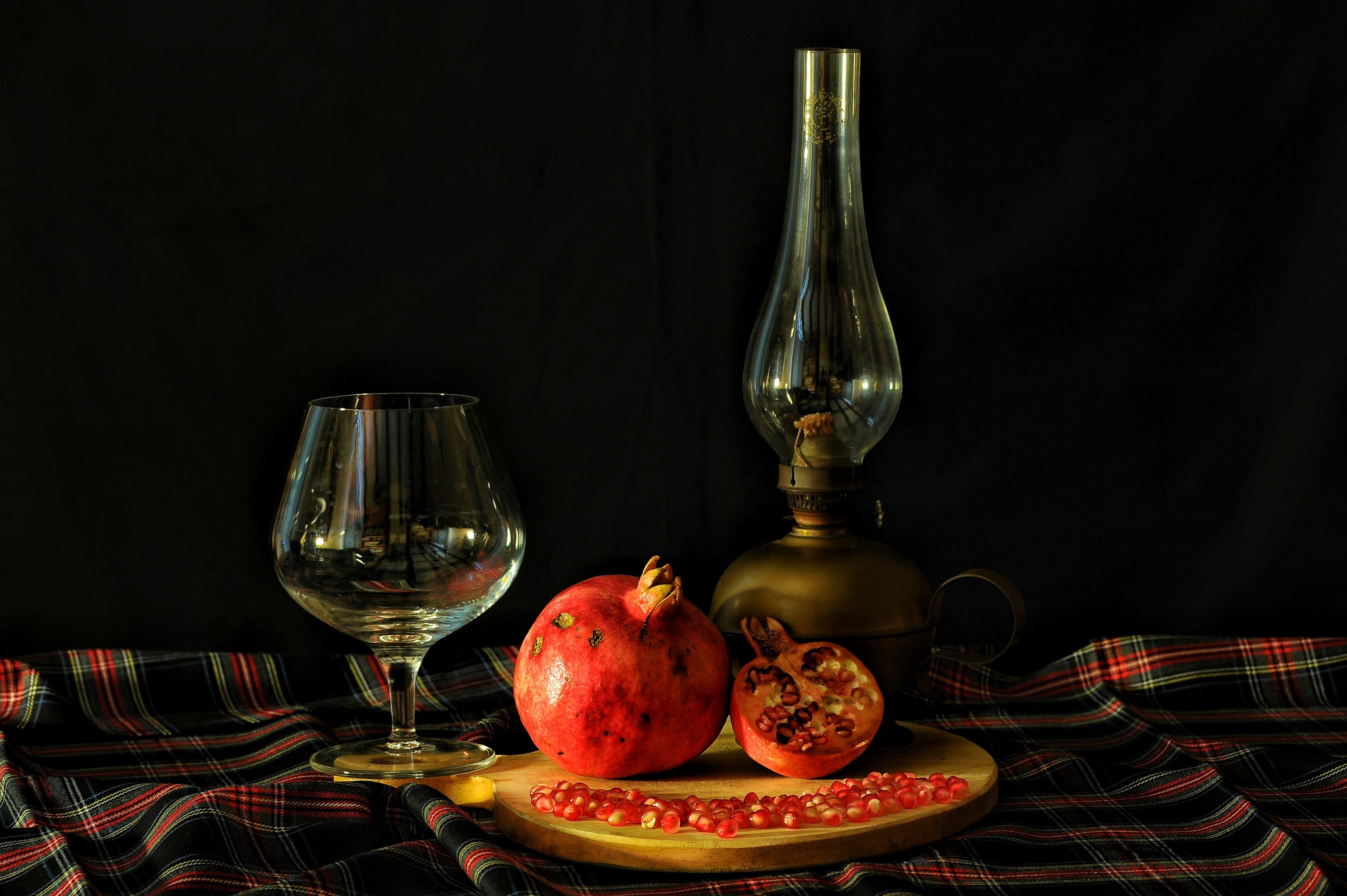 Wine Glass and Pomegranate