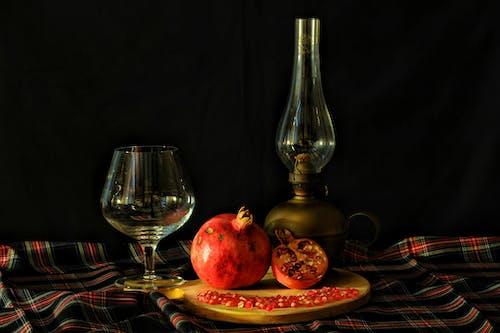 Gratis lagerfoto af Bordservice, drink, glas, granatæble