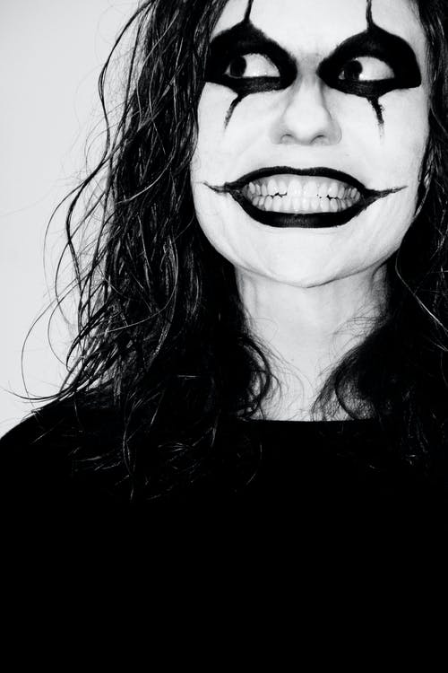 Foto d'estoc gratuïta de blanc i negre, boig, esgarrifós, halloween