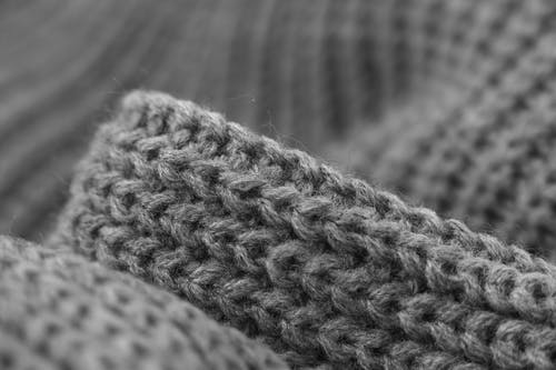 Gray Knitted Cloth