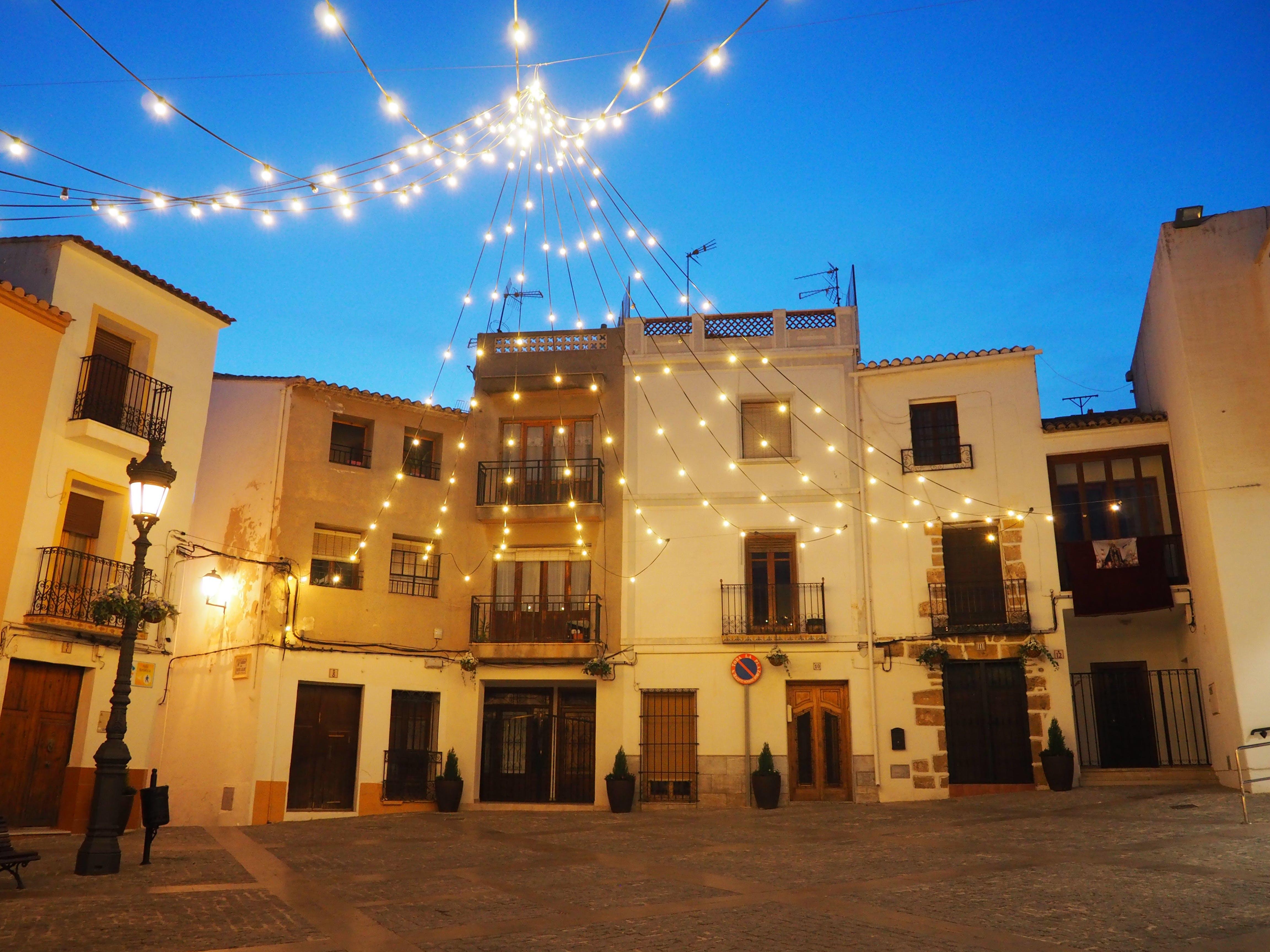 Δωρεάν στοκ φωτογραφιών με calpe, placa de la villa, Ισπανία, φώτα