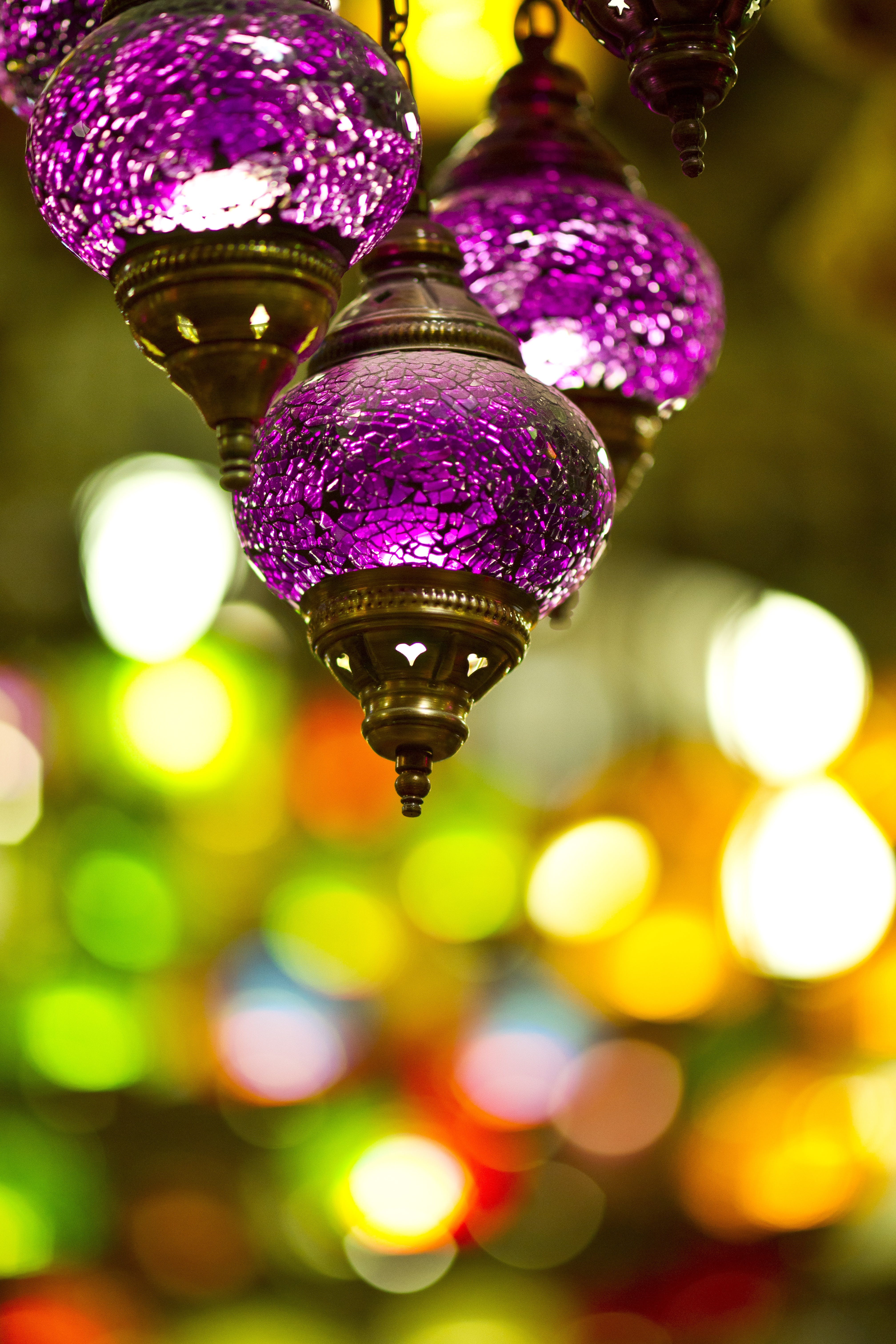 Shallow Depth of Field Photography of Three Hanging Decorations