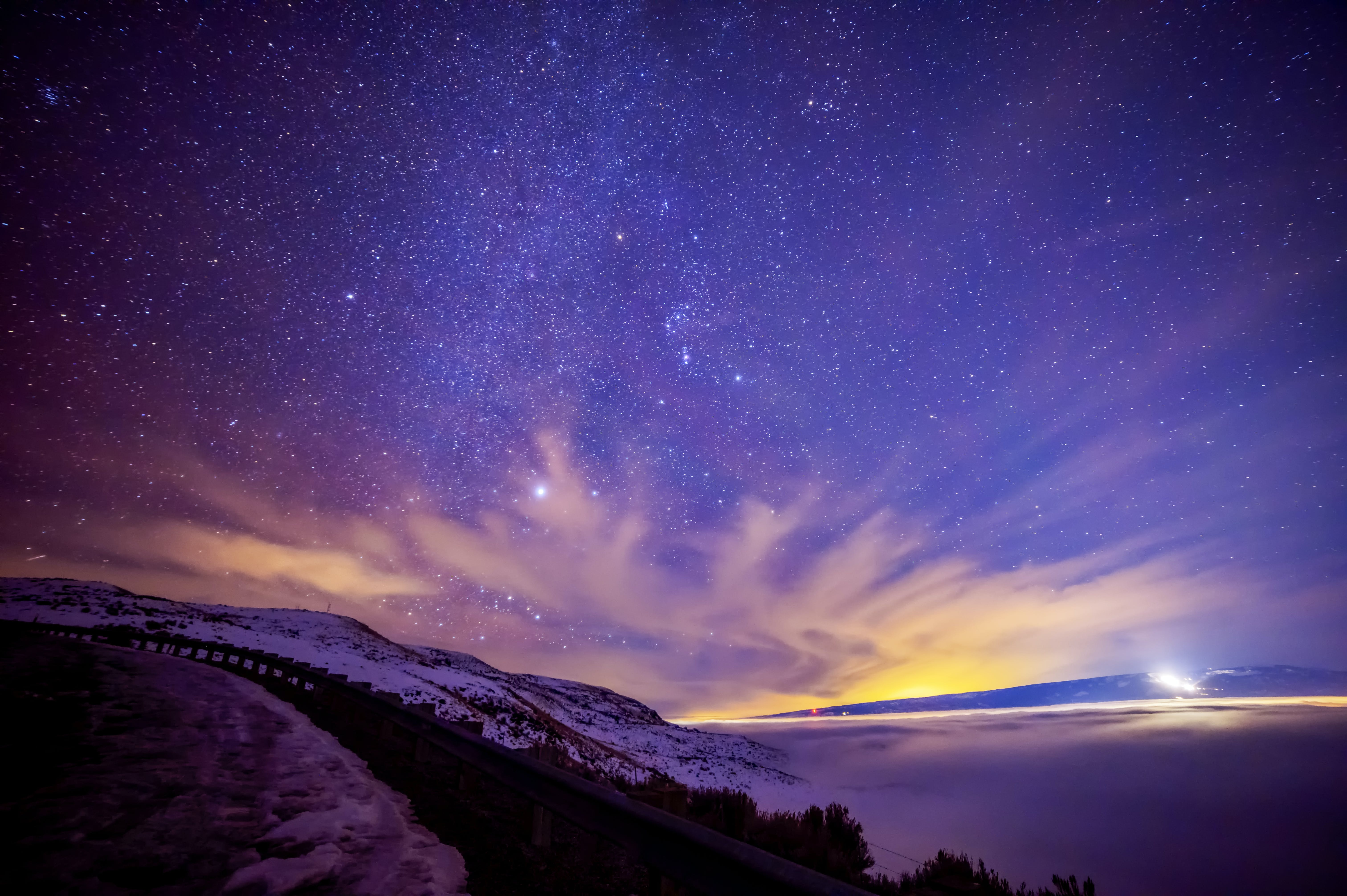 Free stock photo of clouds, constellations, lights, stars