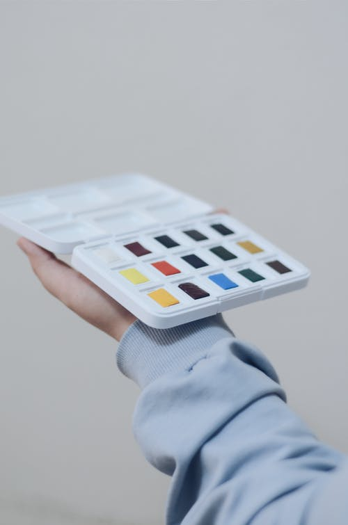 Person Holding Paint Case