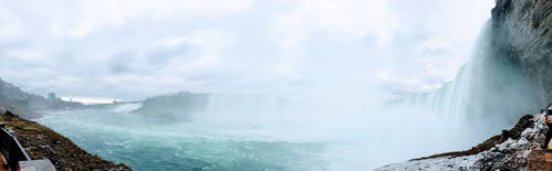 Darmowe zdjęcie z galerii z kaskada, panoramiczny, wodospad niagara, wodospady