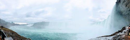 Immagine gratuita di cascate, Cascate del Niagara, nebbia, panoramico