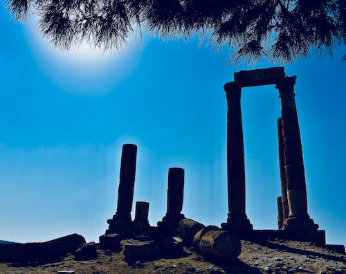Free stock photo of Amman Citadel, ancient, background, beams