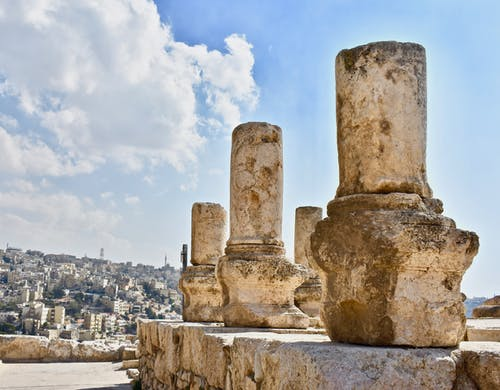 Fotos de stock gratuitas de antiguo, blusa, ciudadela de amman, columnas