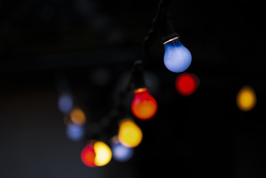 Free stock photo of lights, dark, design, blurred