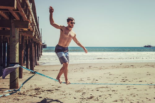 slackline, 享受, 人, 休閒 的 免费素材照片